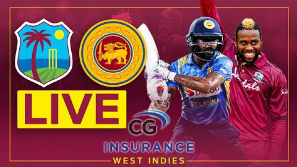 🔴LIVE | West Indies v Sri Lanka | 1st CG Insurance T20I