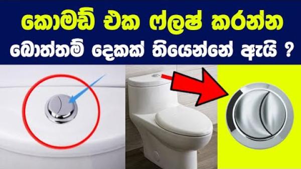 හැමදාම දකින දේවල් 07ක ඔබ නොදත් සැබෑම තේරුම් මෙන්න   Secret of Dual Flush Button in Toilet