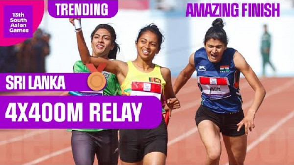 AMAZING finish to Women's 4X400 Relay! A MUST WATCH!